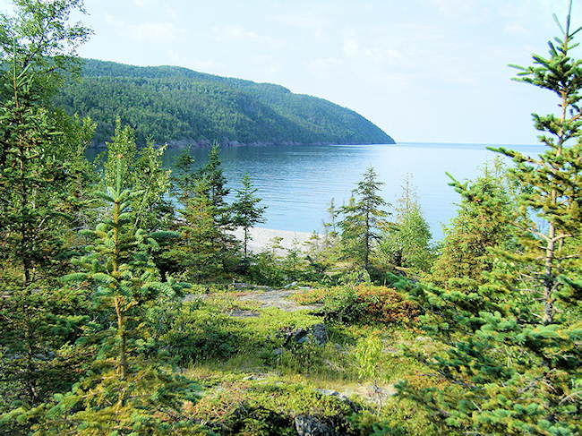 hiking along the north shore of Lake Superior