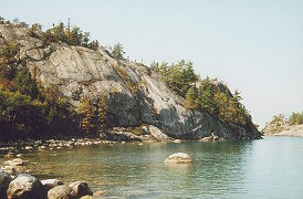 The cliff of Sinclair Cove, Lake Superior, Canada